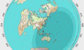 美国大陆在中国的哪个方向上?